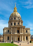 Paris - Les Invalides hospital and chapel dome Royalty Free Stock Photography