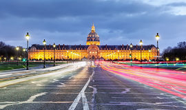 Paris - Les Invalides at night Stock Photos