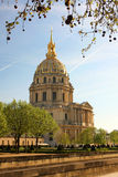 Paris, Les Invalides in spring time, France Royalty Free Stock Images
