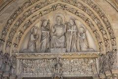 Paris - letztes Urteil-Trommelrad des Sainte Chapelle stockfotos