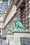 Paris. Lions at Louvre Royalty Free Stock Image