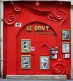 paris liten teater royaltyfri fotografi