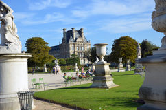 Paris -  Local and Tourist in famous Tuileries garden. Tuileries Garden Stock Photos