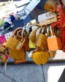 Paris locks. At alma Royalty Free Stock Images