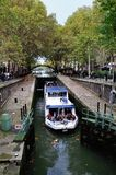 PARIS - LOCKS ON CANAL SAINT MARTIN Royalty Free Stock Images