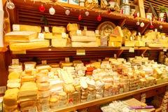 paris loja do queijo Fotografia de Stock Royalty Free