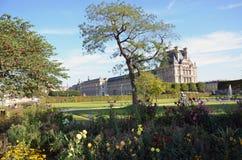 Paris - lokal und touristisch in berühmtem Tuileries-Garten lizenzfreie stockfotos