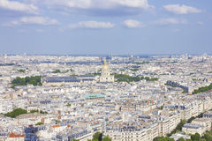 Paris: Looking Down from On High. Paris as seen from the Tower of Eiffel Stock Images