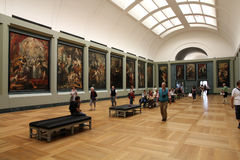 Paris - Louvre. PARIS - JULY 22: Rubens paintings on July 22, 2011 in Louvre Museum, Paris, France. With 8,5m annual visitors, Louvre is consistently the most