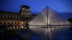 Paris, Louvre banque de vidéos