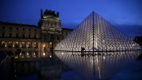Paris, Louvre stock video footage