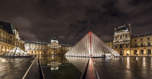 Paris Louvre Museum night view Royalty Free Stock Photo
