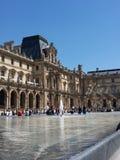 Paris. Louvre museums until people Stock Photos