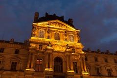 Paris, Louvre, night Stock Photo