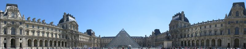 Paris Louvre Panoramic royalty free stock photography