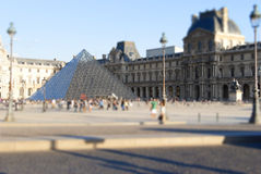 Paris. Louvre tilt-shift model Stock Image
