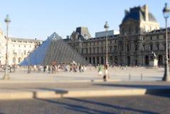 Paris. Louvre tilt-shift model stock image