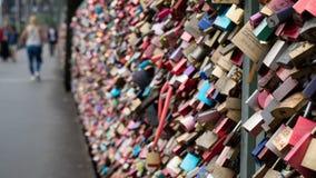 Paris Love Lock Bridge stock photos