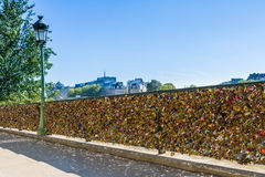 Paris - love locks at the Seine Stock Photography