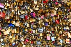 PARIS Love padlocks Stock Photo