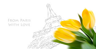 From Paris with Love Royalty Free Stock Photography