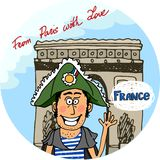 From Paris With Love vector poster design Stock Photography