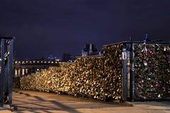 Paris lovers bridge Royalty Free Stock Images