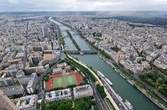Paris, Luftaufnahme Stockbilder