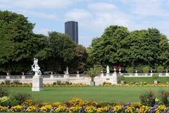 Paris luxembourg garden. Paris landscape, statue in luxembourg garden royalty free stock photo