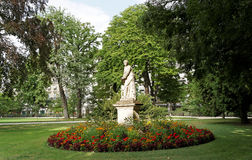 Paris luxembourg garden. Paris landscape, statue in luxembourg garden stock photography