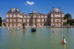Paris Luxembourg Gardens and Heart Shaped Cloud Royalty Free Stock Photo