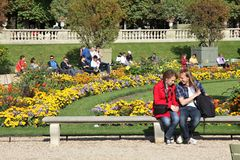 Paris - Luxembourg Gardens stock images