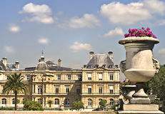 Paris, Luxembourg Palace. Overlooking the Luxembourg Gardens, the Luxembourg Palace in the 6th arrondissement of Paris, France, built for Marie de Medicis, is royalty free stock photos