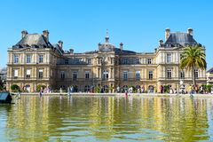 Paris Luxembourg Palace and Gardens in Summer stock image