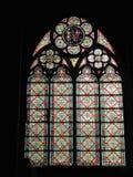 Paris - målat glassfönster av Notre Dame Royaltyfri Fotografi