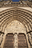 Paris - main portal of Notre-Dame Royalty Free Stock Images