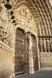 Paris - main portal of Notre-Dame Royalty Free Stock Images