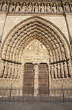 Paris  - main portal of Notre Dame cathedral Royalty Free Stock Photos
