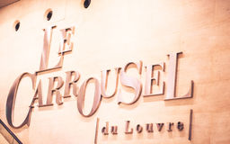 Paris mall title: Le Carrousel du Louvre Royalty Free Stock Photo