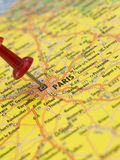 Paris on the map Royalty Free Stock Photo