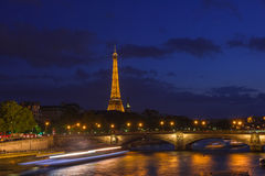 Eiffel Tower and Pont des Invalides in Paris Royalty Free Stock Images