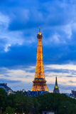 PARIS - MAY 9:  Eiffel Tower at night illumination. Royalty Free Stock Image