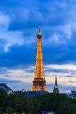 PARIS - MAY 9: Eiffel Tower at night illumination. royalty free stock image