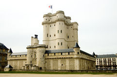 Paris Medieval Fortress. The Donjon of Vincennes is the best preserved medieval fortress of Paris. You can visit the tower and the court yard around. You get Royalty Free Stock Photography
