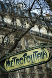Paris metra Obraz Royalty Free