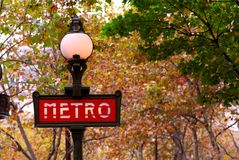 Paris metro Royalty Free Stock Photo