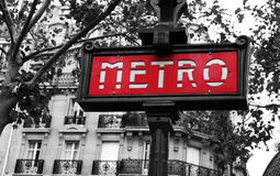 Paris-Metro Stockfoto