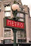Paris Metro. Sign, Paris, France Stock Images