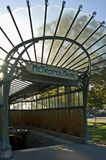Paris Metro Entrance 1900. The only completely surviving metro entrance made by architect Guimard in 1900 Royalty Free Stock Photo