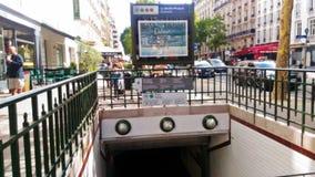Paris Metro Entrance royalty free stock photography